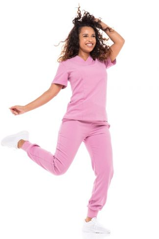 Pink Passion Skrubby  Tie Jogger Set